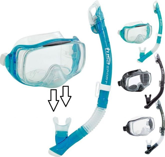 Tusa - Purge Mask and Snorkel Set - Imprex 3D Dry Combo - Silicone Skirt